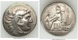 MACEDONIAN KINGDOM. Alexander III the Great (336-323 BC). AR tetradrachm (34mm, 16.51 gm, 12h). VF, scratches. Mytilene, ca. 188-170 BC. Head of Herac...