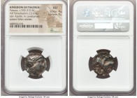 PAEONIAN KINGDOM. Patraus (ca. 335-315 BC). AR tetradrachm (20mm, 13.01 gm, 2h). NGC AU 4/5 - 4/5. Damastion (?), ca. 135/4 BC. Laureate head of Apoll...