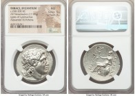 THRACE. Byzantium. Ca. 250-200 BC. AR tetradrachm (33mm, 17.02 gm, 2h). NGC AU 5/5 - 3/5. Name and types of Lysimachus of Thrace. Diademed head of dei...