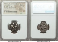 THRACIAN ISLANDS. Thasos. Ca. 525-450 BC. AR stater (22mm, 9.11 gm). NGC Choice VF 5/5 - 4/5. Thasian standard. Nude ithyphallic satyr running right, ...