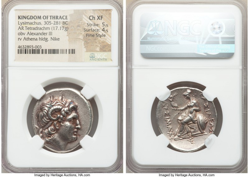 THRACIAN KINGDOM. Lysimachus (305-281 BC). AR tetradrachm (30mm, 17.17 gm, 11h)....