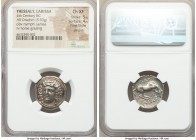 THESSALY. Larissa. Ca. 356-342 BC. AR drachm (20mm, 5.93 gm, 11h). NGC Choice XF 5/5 - 4/5, Fine Style, die shift. Head of the nymph Larissa facing sl...
