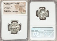 ACARNANIA. Anactorium. Ca. 320-280 BC. AR stater (22mm, 8.57 gm, 4h). NGC Choice XF 3/5 - 4/5. Pegasus flying left, AN (N retrograde) monogram below /...