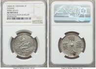 Minh Mang 3 Tien ND (1820-1841) AU Details (Removed From Jewelry) NGC, KM186, Schroeder-184. A popular presentation-quality emission, signs of mountin...