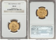 Victoria gold Sovereign 1866-SYDNEY MS62 NGC, Sydney mint, KM4. An early and much sought-after year for this iconic sovereign type, particularly when ...