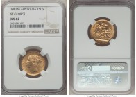 "Victoria gold ""St. George"" Sovereign 1883-M MS62 NGC, Melbourne mint, KM7.  HID99912102018"