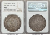 Salzburg. Paris Taler 1639 MS62 NGC, KM87, Dav-3504. Ranking seven points above the next highest specimen from NGC, this markedly choice-quality taler...