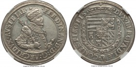 Archduke Ferdinand Taler ND (1564-1595) MS61 NGC, Hall mint, Dav-8097. Virtually never encountered frosty white for an over 400-year-old issue, only a...