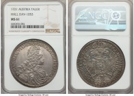 Karl (Charles) VI Taler 1721 MS61 NGC, Hall mint, KM1594, Dav-1053. Rarely offered in Mint State grades, the whole of the coin beaming with considerab...