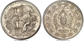 "Franz Joseph I Medallic ""Federal Shooting Festival"" 2 Florin 1880 MS65 PCGS, KMX-M6. A piece that exudes frosty white quality through its intricate an..."