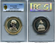 "Franz Joseph I silver Specimen ""Archduke Karl Memorial"" Medal 1860 SP63 PCGS, by. C. Radnitzky, Horsky-3578, Hauser-2220, Montenuovo-2690 (AE). Issued..."