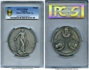 "Franz Joseph I silver Matte Specimen ""Liberation Struggle"" Centenary Medal 1913 SP66 PCGS, by J. Tautenhayn, Hauser-1982, 65mm. Issued for the  centel..."
