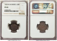British Colony. George IV Proof 1/8 Dollar 1820 PR63 NGC, KM2. A very scarce issue in proof, the strike beautifully detailed with minimal signs of han...