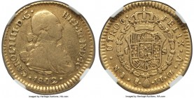 Charles IV gold Escudo 1802 So-JJ VF25 NGC, Santiago mint, KM61. Quite rare, with only 748 examples minted for 1802. A lack of sales records confirm t...
