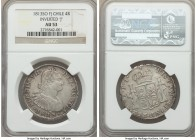 Ferdinand VII 4 Reales 1813 So-FJ AU53 NGC, Santiago mint, KM67. Attractively toned, with light handling commensurate with the grade.  HID99912102018