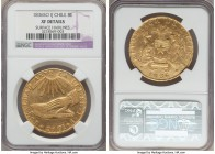 Republic gold 8 Escudos 1836 So-IJ XF Details (Surface Hairlines) NGC, Santiago mint, KM93. Mintage: 27,000. A popular and emblematic early republican...
