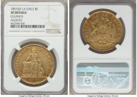 Republic gold 8 Escudos 1851 So-LA XF Details (Cleaned) NGC, Santiago mint, KM105. Dated August 1851 on the rim. A fully appealing representative, the...