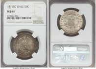 Republic 50 Centavos 1872-So MS64 NGC, Santiago mint, KM139. An absolute treat for the type, currently the single finest certified by either NGC or PC...