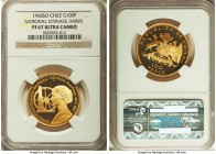 "Republic gold Proof ""National Coinage Anniversary"" 100 Pesos 1968-So PR67 Ultra Cameo NGC, Santiago mint, KM185. AGW 0.5885 oz.  HID99912102018"