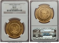Republic gold Onza 1982-So MS67 NGC, Santiago mint, cf. KM-X2 (unlisted date). AGW 0.999 oz.  HID99912102018