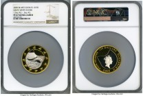 "Elizabeth II bi-metallic gold & silver Proof ""Great White Shark"" 150 Dollars 2005 PR67 Ultra Cameo NGC, Perth mint, KM1618. Sparkling cameo appearance..."