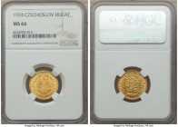 Republic gold Ducat 1924 MS66 NGC, KM8.  HID99912102018