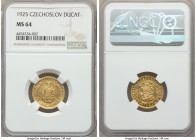 Republic gold Ducat 1925 MS64 NGC, KM8. AGW 0.1106 oz.  HID99912102018