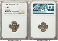 Danish Colony. Christian IX Prooflike 5 Cents 1879-(h) PL62 NGC, Copenhagen mint, KM69. Among only 2 prooflike specimens in total certified by NGC, wi...
