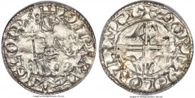 Kings of All England. Edward the Confessor (1042-1066) Penny ND (1056-1059) MS62 PCGS, Lincoln mint, Thorcetel as moneyer, Sovereign/Eagles type, S-11...