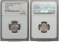 Kings of All England. Henry I (1100-1135) Penny ND (c. 1102) AU55 NGC, London mint, Godric (?) as moneyer, Quadrilateral on Cross Fleury type, 1.21gm,...