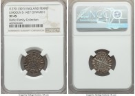 Edward I (1279-1307) Penny ND (1280-1281) XF45 NGC, Lincoln mint, Class 3c, S-1427, N-1018. An extremely well-struck and presentable example of the ty...