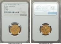 Edward III (1327-1377) gold 1/4 Noble ND (1361-1369) XF45 NGC, London mint, Cross pattee mm, Treaty Period, 1.80gm, S-1510. A bit weakly struck with m...
