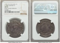 Edward VI (1547-1553) Shilling ND (1551-1553) AU53 NGC, Tower mint, S-2482. Well-struck for the type, with glistening fields and surfaces which displa...