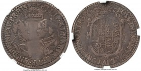 Philip II of Spain & Mary I (1554-1558) Shilling ND (1554-1555) VF Details (Obverse Repaired) NGC, Without mm, 6.20gm, S-2498. A comparatively high gr...