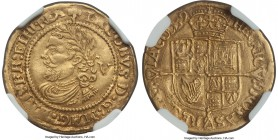 James I (1603-25) gold 1/4 Laurel ND (1624) AU53 NGC, Tower mint, 2.27gm, KM69, S-2642A. Fourth laureate bust, trefoil mm. The final year of this Scot...
