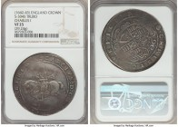 Charles I (1625-1649) Crown ND (1642-1643) VF25 NGC, Truro mint, Rose mm, 29.24gm, KM333, S-3045. A comparatively superb and somewhat scarce Civil War...