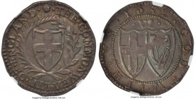 Commonwealth 6 Pence 1652 AU55 NGC, S-3219, North-2726, ESC-1486. 3.04gm. Magnificent, a Puritan rarity in stellar preservation with sublime toning. T...