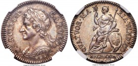 "Charles II silver Proof Pattern Farthing 1665 PR64 NGC, KM-PnR33, Peck-407. Reeded (""straight-grained"") edge. The top graded specimen of this very sca..."