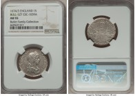 Charles II Shilling 1674/3 AU55 NGC, KM427.1, ESC-527 (R2; prev. 1039A). A veritably rare overdate for the issue and a noteworthy lofty grade for Char...