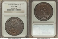 "George III ""Cartwheel"" 2 Pence 1797-SOHO MS62 Brown NGC, Soho mint, KM619. A sublime striking featuring an unusually glassy white luminescence in the ..."