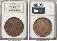George III Proof Bank Dollar of 5 Shillings 1804 PR62 NGC, KM-Tn1. A dazzling rendition from this highly collectable Bank of England series, of great ...