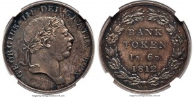 George III Proof Bank 18 Pence (1 Shilling 6 Pence) Token 1812 PR63 NGC, KM-Tn3, ESC-2116 (prev. 973). One of just 6 proofs certified by NGC and the f...
