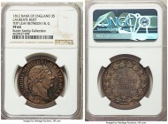 George III Proof Bank 3 Shilling Token 1812 PR65 NGC, KM-Tn5. Laureate bust, with top lead between the I of DEI and G or GRATIA. An all-in-all chart-t...