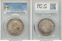 George III 1/2 Crown 1817 MS64+ PCGS, KM672, S-3789. Small bust type. An practically immaculate near-gem, the slightly pale ash hue of the surfaces co...