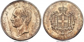 George I 5 Drachmai 1876-A MS62 PCGS, Paris mint, KM46. An ever-popular type, especially in Mint State.   HID99912102018