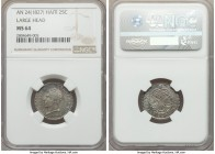 Republic 25 Centimes L'An 24 (1827) MS64 NGC, KM18.1. Large head variety and important as first year of issue.  HID99912102018