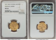 Mughal Empire. Muhammad Shah gold Mohur AH 1140 Year 10 (1736/7) MS64 NGC, Muazzamabad mint?, KM438.16. A genuinely unimpaired specimen, boasting the ...