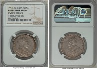 British India. George V Mint Error Rupee ND (1911-1936) AU50 NGC, cf. KM523-524 (for type). Obverse brockage. A highly collectable mint error type, te...