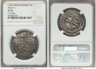 Philip II (1556-1598) Cob 4 Reales ND Mo-O VF25 NGC, Mexico City mint, 13.28gm, KM36, Cal-333. A decent striking for the assigned grade, typical weakn...