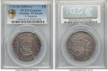 Philip V 4 Reales 1734 Mo-MF XF Details (Cleaning) PCGS, Mexico City mint, KM94. A most presentable and well-struck example, the fields retoned to an ...